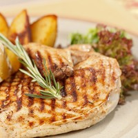 Fotinis Basket-Μπριζόλες χοιρινές <br> στο φούρνο